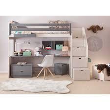 bureau pour lit mezzanine chambre complete pour enfants ados avec lit mezzanine galerie avec