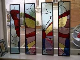 butterfly interior partition panels by coriander stained glass
