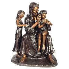 cast bronze jesus with children statue metropolitan galleries inc