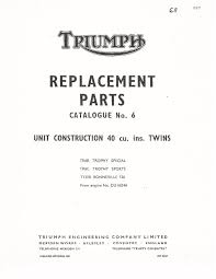triumph parts manual book 1968 bonneville 120 t120r u2022 17 50