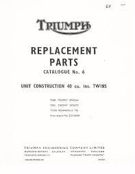 triumph parts manual book 1968 bonneville 120 t120r u2022 17 50
