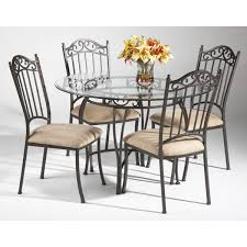 wrought iron dining table glass top dining furniture iron dining table home decor