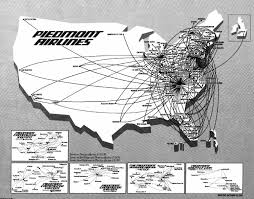 Alaska Airlines Flight Map by Piedmont Airlines Airline Route Maps Pinterest Aviation