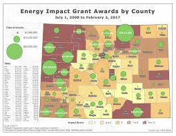 Colorado County Map by Energy Mineral Impact Assistance Fund Grant Eiaf Colorado