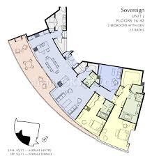St Regis Residences Floor Plan Sovereign 4004 Available For Lease 10 500 Per Month Furnished