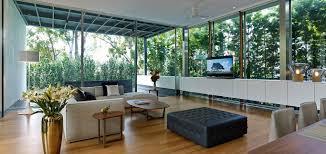 zen courtyard house modern living room in beach sentosa cove