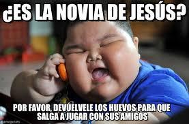 Memes De Jesus - es la novia de jes禳s asian fat kid meme on memegen