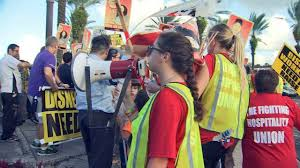 bureau de change disney disney pay raise union workers protest wftv wftv