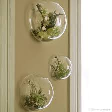 Home Plant Decor by 4pcs Wall Bubble Glass Terrarium Succulent Planter Terrarium For