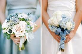 blue wedding bouquets something blue wedding bouquets weddbook