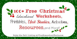 100 free christmas educational worksheets printables unit