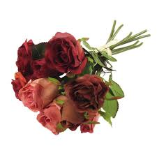 Fake Roses Bundle Of Premium Handtied Two Toned Roses Wedding Bouquet Fake