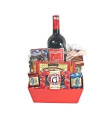 Wine And Chocolate Gift Baskets Red Wine U0026 Chocolate Basket Gift 1047 Deschutes Gift Baskets
