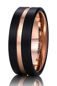 matte black mens wedding bands black gold mens wedding rings