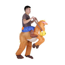 Halloween Costume Cowboy Authentic Inflatable Blow Halloween Costume Cowboy Rider