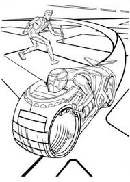 tron coloring pages funycoloring