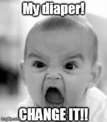 Baby Diaper Meme - angry baby meme imgflip