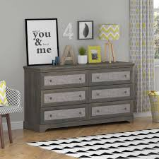 Gray Bedroom Dressers Altra Furniture River Drawer Dresser Rodeo Oak Grey And Gray