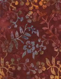 merlot tie dye colorful flower batik fabric by timeless