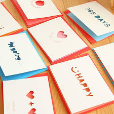 small and fresh and hollow out birthday cards s day