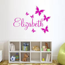 aliexpress com buy custom made butterfly personalized wall aliexpress com buy custom made butterfly personalized wall sticker name vinyl wall sticker wall art decal you choose name and color from reliable art