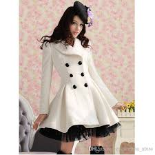 Womens Winter Coats Plus Size 2017 New Long Woolen Coat Dress Fashion Women Winter Ruffled Coat
