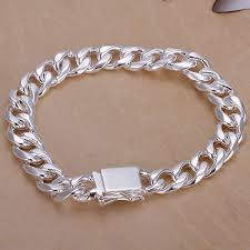 silver bracelet chains images Men 39 s 925 sterling silver 10mm chains 8 39 39 bracelet jpg
