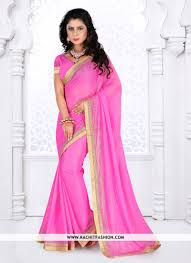 Pink Colour by Topaz Designer Saree In Pink Colour