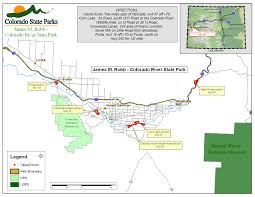 Map Of Colorado Cities And Towns Colorado River State Park Clifton Colorado State Parks