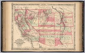 Map Of Arizona And California by California With Territories Of Utah Nevada Colorado New Mexico