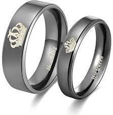 couple rings set images Buy stainless steel fashion her king his queen shining couple jpg