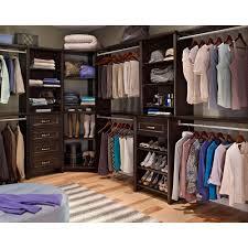 Home Depot Closet Organizer by Closetmaid Impressions 41 1 In Chocolate Corner Unit 30811