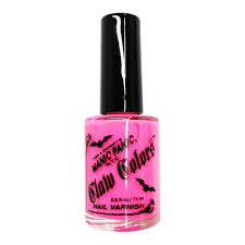 manic panic electric flamingo neon finish claw colors nail polish