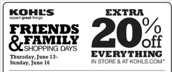 kohls coupon june 2013 save 20