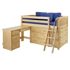 Bed And Desk Combo Furniture Carter Low Loft Bed With Dressers And Desk Rosenberryrooms Com