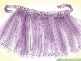 how to make tulle skirt how to make a tulle tutu with pictures wikihow