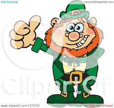 clipart st patricks day leprechaun smoking a pipe bending over and