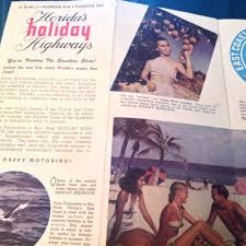 Fl East Coast Map Flashback Friday Tourist Map Of Florida From 1950 The Florida