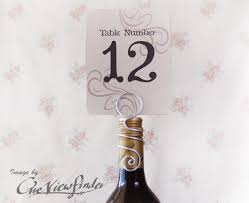 table number card holders wine bottle table number holder wire place card holder escort card