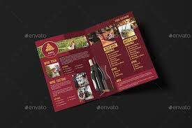 wine brochure template winery a5 brochure template by wutip2 graphicriver