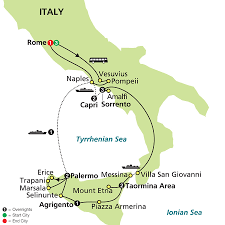Palermo Italy Map by Cosmos Tours Southern Italy U0026 Sicily 2016