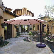 11 Ft Offset Patio Umbrella Galtech 11 Ft Aluminum Cantilever Patio Umbrella With Easy Lift