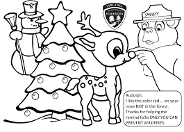 christmas smokey the bear coloring pages 30532 bestofcoloring com