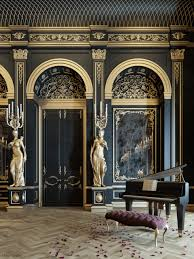 Neoclassical Style Homes Blackum Mixing Between Gold U0026 Black Color In Luxury Style