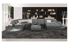 canapé d angle en cuir gris canapé d angle panoramique en cuir modèle team