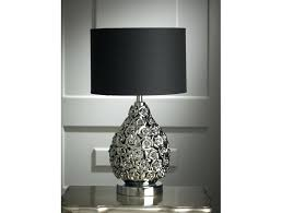 Silver Nightstand Lamps Table Lamps Black Black Table Lamp Thumbnail 1 Thumbnail 1 Silver