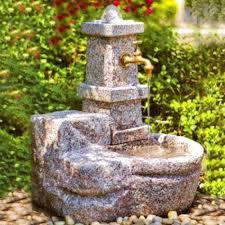 fontane per giardini in granito rosa 0054