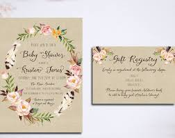 baby gift registries baby shower invitation registry card baby bird