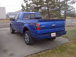 truck ford blue blue flame blackout to date new tails and tip ford f150 forum