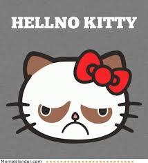 Hello Kitty Meme - grumpy cat hellno kitty meme shuffle pinterest kitty